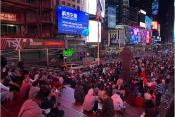 """全球瞩目丨科言生物形象亮相纽约时代广场,向世界""""发声""""!"""